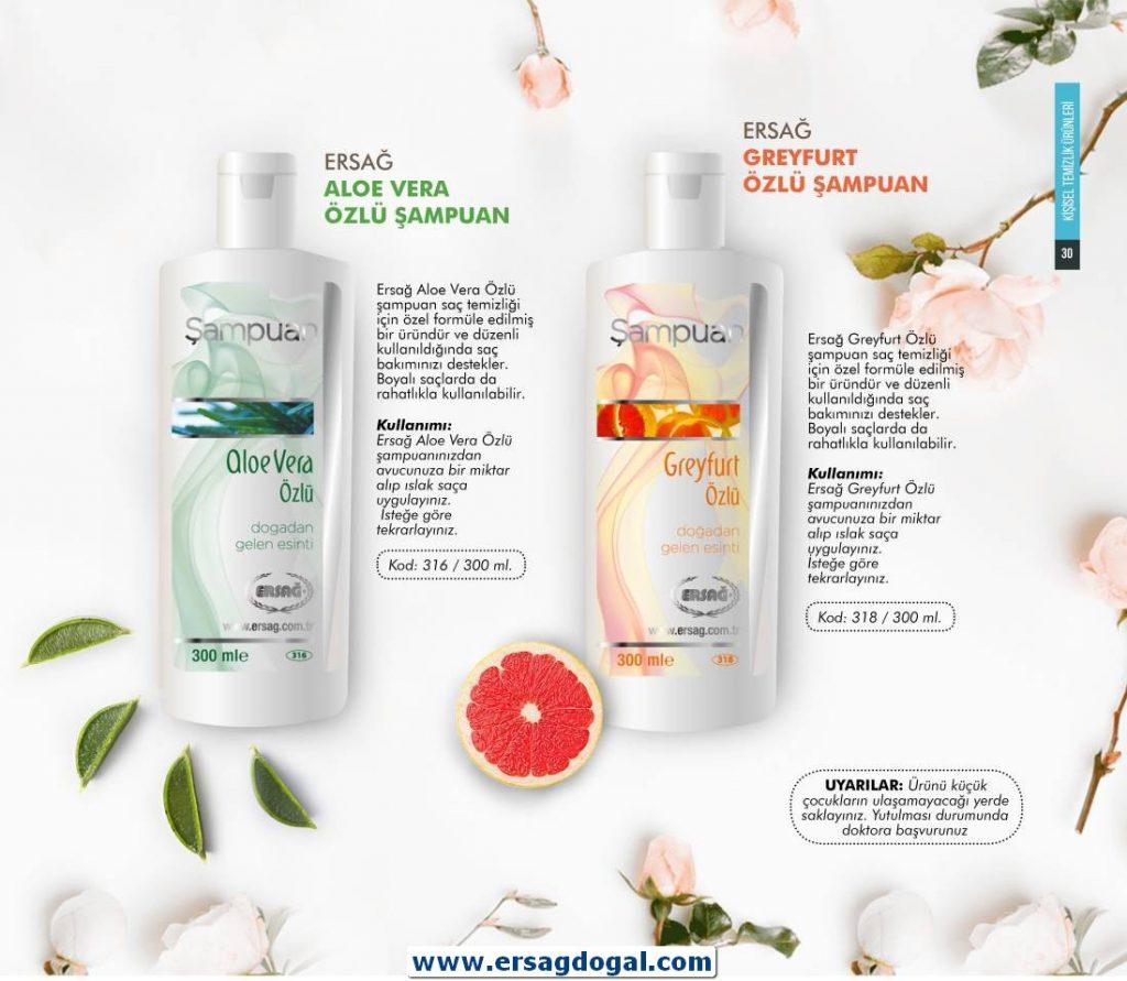 Aloe Vera Şampuan (300 ml) (Ürün Kodu:316) Satış Fiyatı:40,25₺ /-/ Üye Fiyatı:32,20₺---Greyfurt Şampuan (300 ml) (Ürün Kodu:318) Satış Fiyatı:40,25₺ /-/ Üye Fiyatı:32,20₺